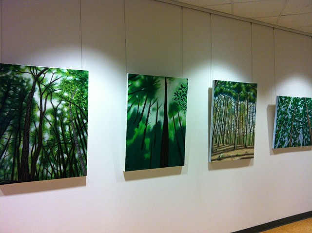 Exhibting at the corporate headquarters for Tufts Health Plans, in Watertown, Massachusetts.