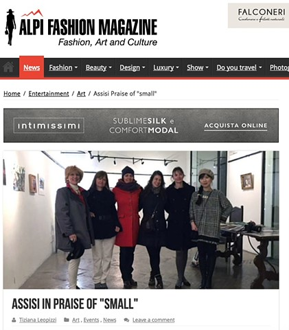"Assisi Elogio Del ""Piccolo"" in Alpi Fashion Magazine, December 2017"