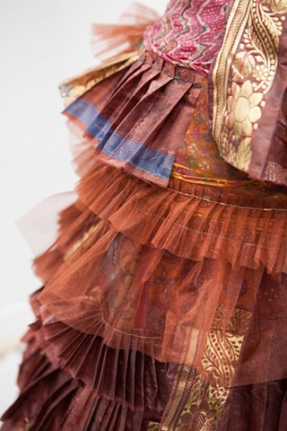 Pleated auntie, detail