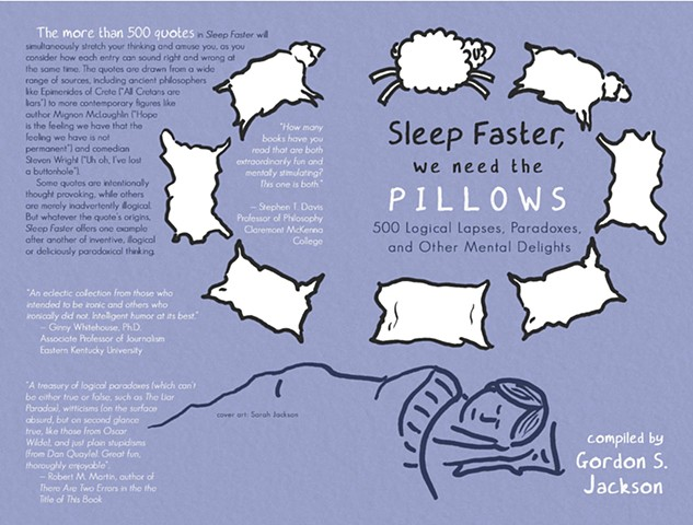 """""""Sleep Faster, We Need the Pillows"""" by Gordon Jackson, book cover"""