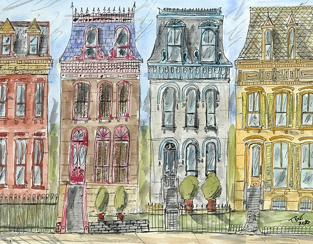 Four Row Houses