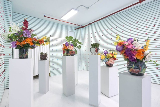 Flower Shop, On Canal, special exhibition between The Hole NYC and Wallplay