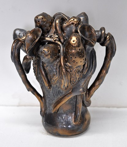 Bronzed Arrangement with Handles