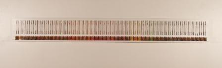 conceptual art with colored pencils, sculpture