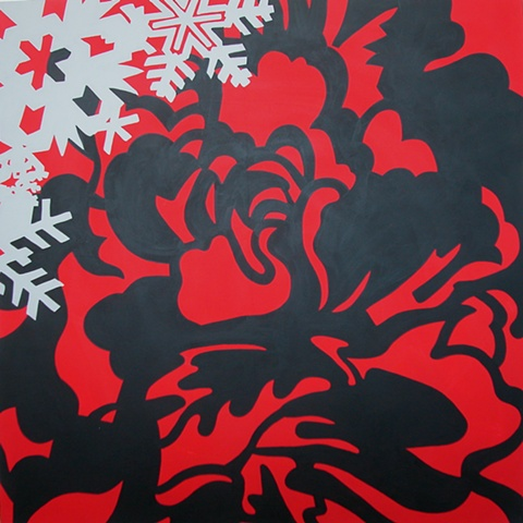 Winter Fashions in Full Bloom 48x48