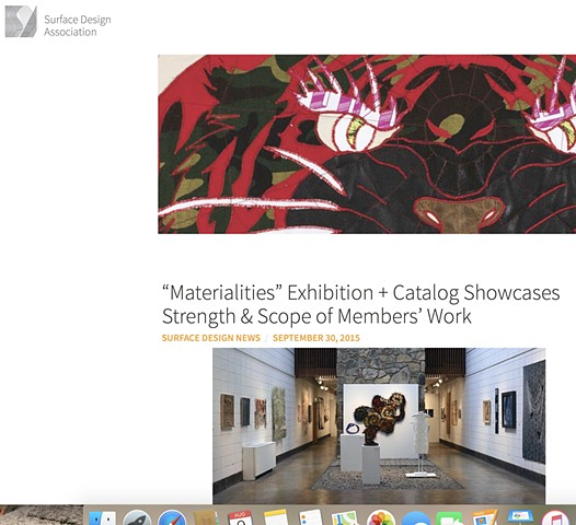 """Materialities"" Exhibition + Catalog Showcases Strength & Scope of Members' Work"