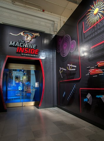 "Video footage of the ""The Machine Inside: Biomechanics"" exhibition"