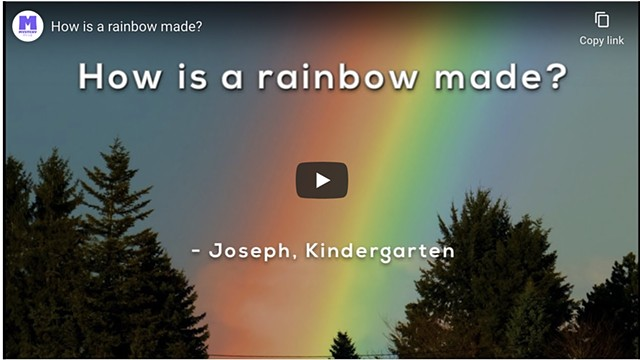 Explainer Video: How is a rainbow made?