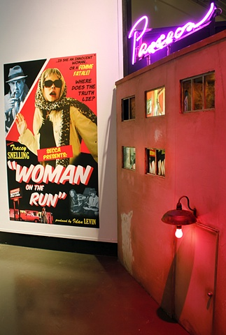 """Tracey Snelling"" ""Woman on the Run"" installation at the Southeastern Center for Contemporary Art"