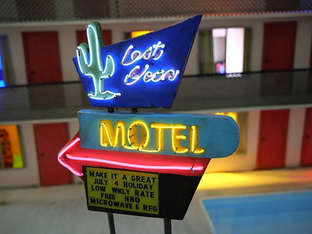 lost motel, tracey snelling, sculpture, mixed media, video art