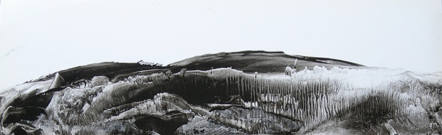 Sumi ink landscape