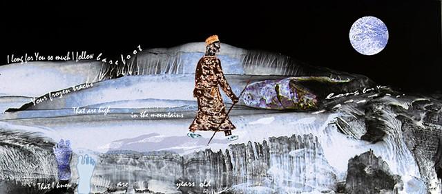 digital assemblage, Hafiz poetry