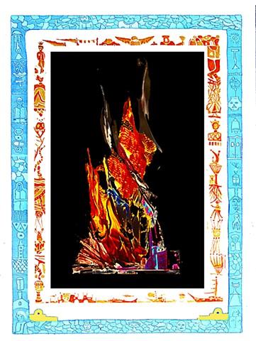 digital print from the Eternal Flame Series
