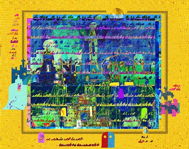 digital imagery from Luminous Man Series