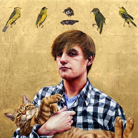 Brian and Bruno with Birds
