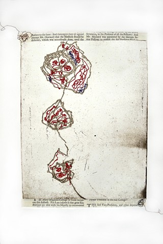 flowers, stitching in printmaking, border policies, sorrow, mourning, thread drawing, loss, stitched drawing, line drawing