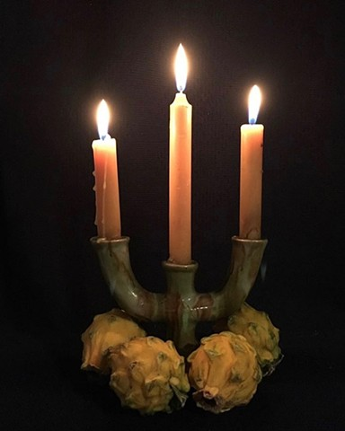 Cult of Domesticity Still Life Series: Candelabro con pitahayas (Candelabra with Pitahayas)