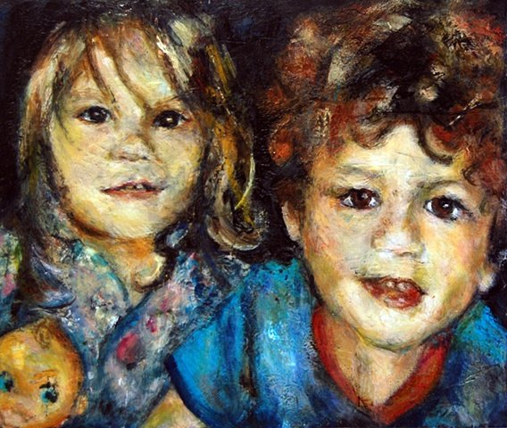 Dallas Encaustic Children Painting Portrait