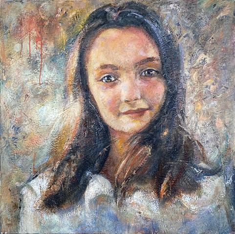 Encaustic Portrait Commissions Female