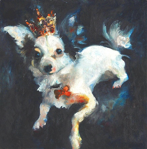 Pet portrait commissions patty Rooney painter Dallas Texas