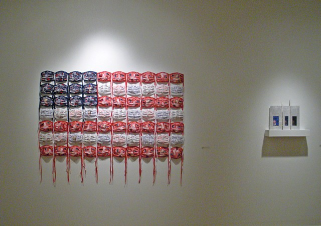 #9 Protest Series in Fiberarts Guild of Pittsburgh's show