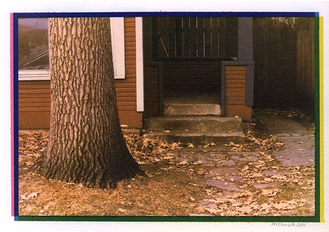 Stoop with Oak Tree