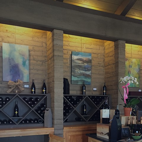 Three paintings on Wente walls