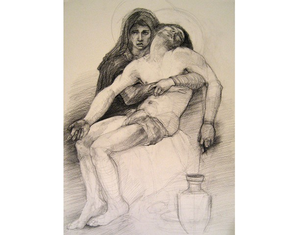 After: Bouguereau Pieta ca. 1876 Study #2 (out of six)