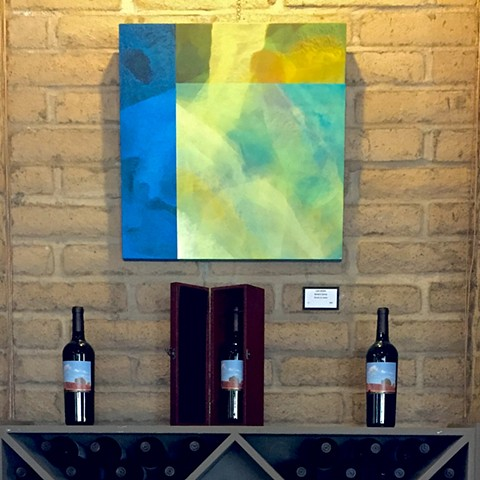 Being In Spring painting on Wente wall