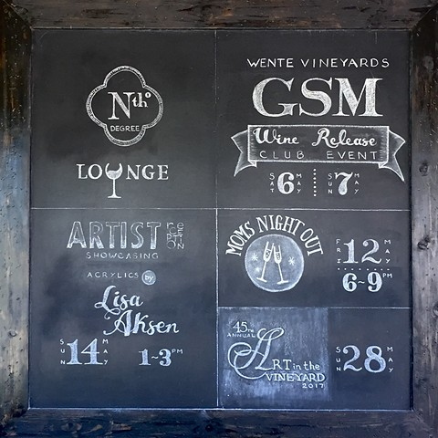 The Chalkboard at Wente Vineyards