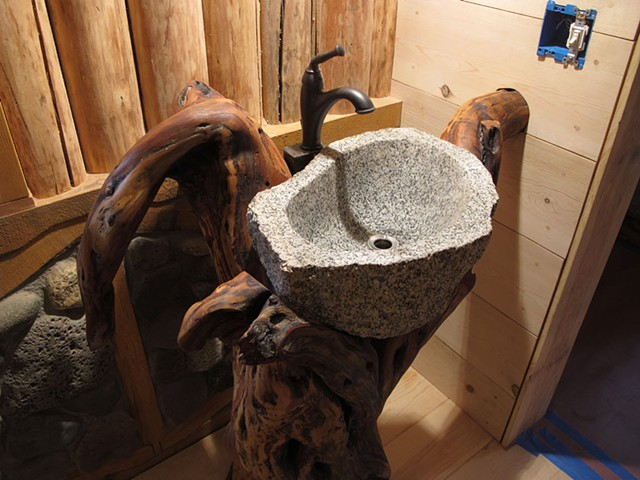 mountain mahogany sink pedestal