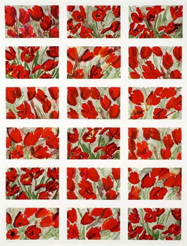 18 Red Tulips