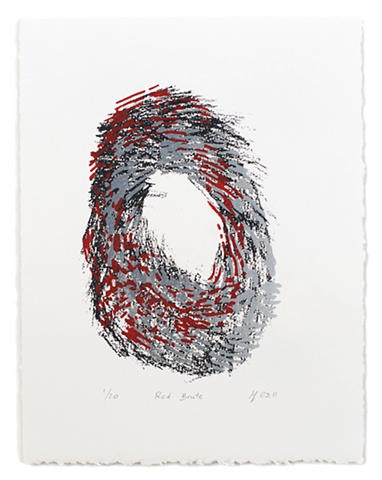 ziejka, screenprint, red
