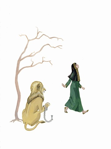 "Illustration for ""The Donkey Lady and Other Tales From the Arabian Gulf"""