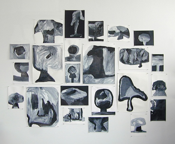 My Failed Drawings, Obliterated (Studio View 2007)