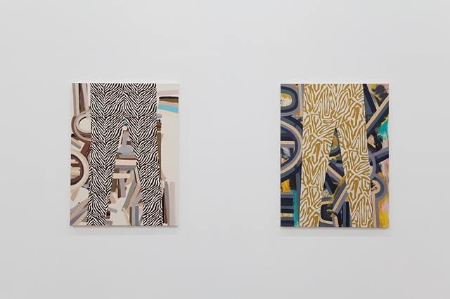 Installation View (Pants That Fit 1 & 2)