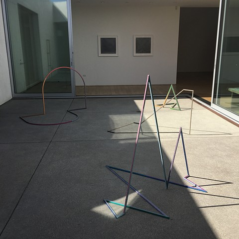"""BLINDSIGHT"" installation view at Samuel Freeman, with work by Jenene Nagy"