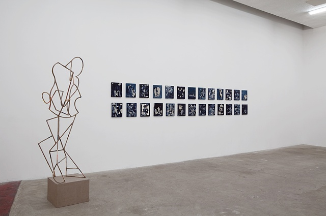 Installation View (Tight Linen Suit & The Lost Alphabet)