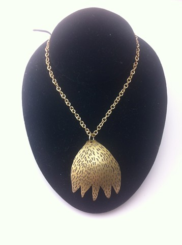 Animal paw, necklace, lace army, etched, jewelry, handmade, handmade philly