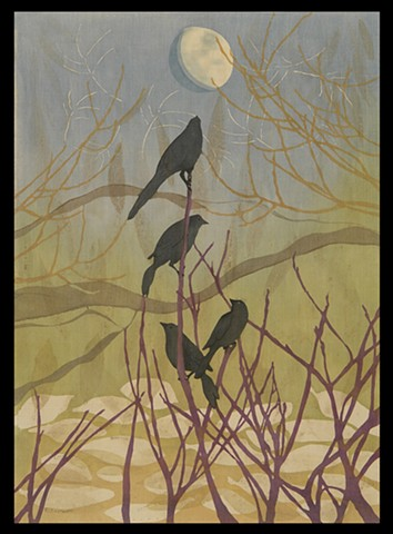Grackles and The Moon