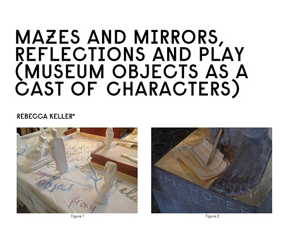 *Mazes and Mirrors, Reflections and Play: Museum Objects as a Cast of Characters project publication* Frans Hals museum