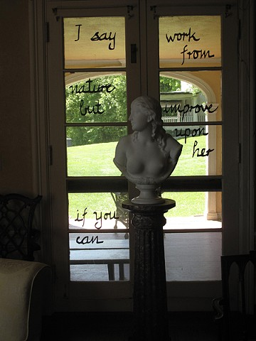 Chesterwood, Excavating History, windows, Daniel Chester French's letters