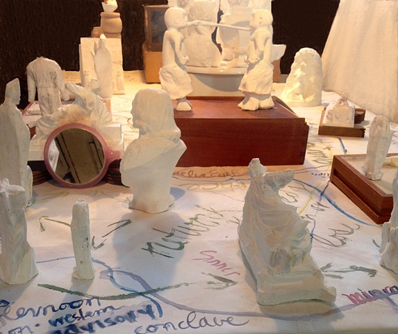 3-d printing, museum files, case of characters, alternative practices