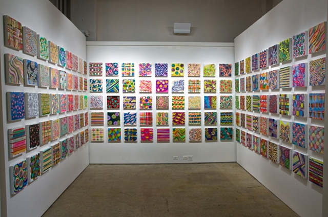 candy store grid installation view