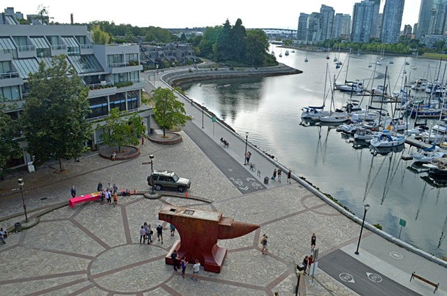 Acoustic Anvil (A Small Weight to Forge the Sea), False Creek, Vancouver BC