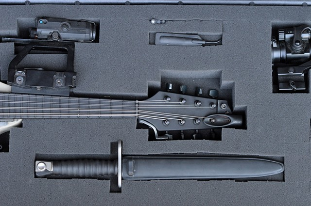 The Antebellum Orchestra Project (work in progress); Tactical Mandolin, Cased (detail)