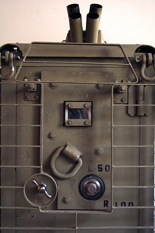 SAFE (detail) Latch, dial and up-armor plate