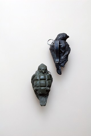 Grenade birds, bird grenade, maskull lasserre, canadian forces artist program, Afghanistan
