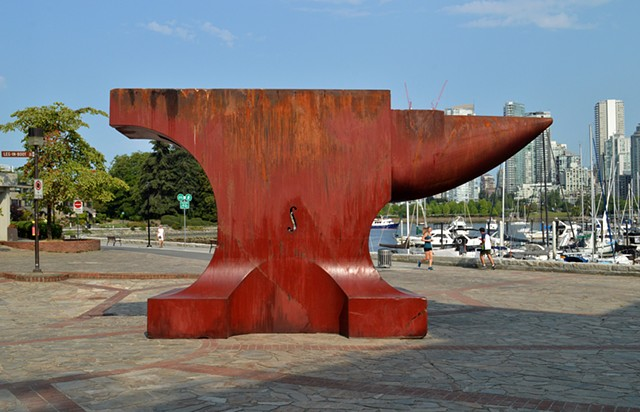 Acoustic Anvil (A Small Weight to Forge the Sea), Leg in Boot Square, Vancouver BC