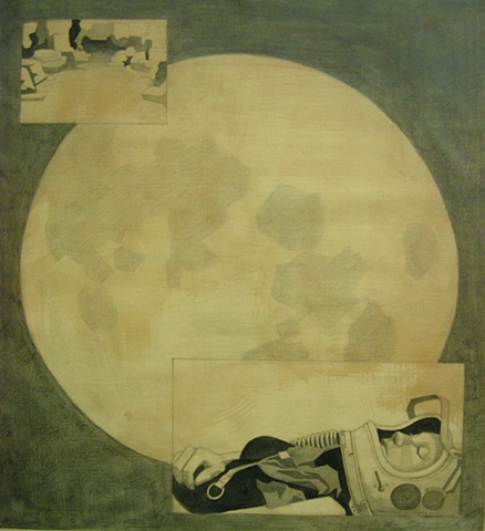 Lyndsea Cherkasky - Moon - graphite on paper
